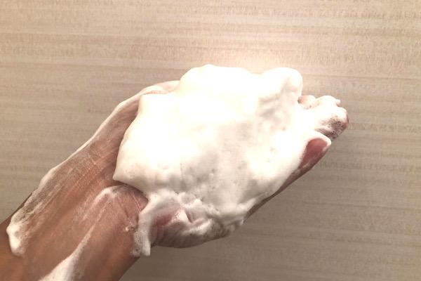 ロゼット洗顔パスタ 荒性肌の泡1